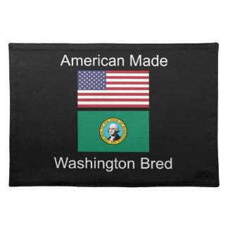 """American Born..Washington Bred"" Flag Design Placemat"