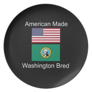 """American Born..Washington Bred"" Flag Design Plate"