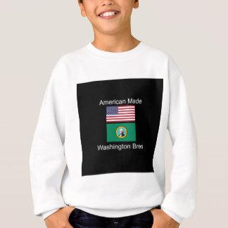 """American Born..Washington Bred"" Flag Design Sweatshirt"