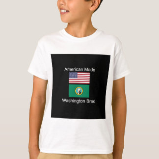"""American Born..Washington Bred"" Flag Design T-Shirt"