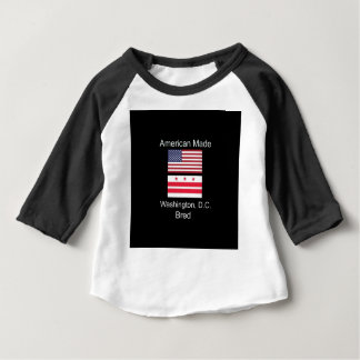 """American Born..Washington, D.C. Bred"" Flag Design Baby T-Shirt"