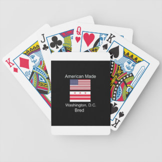 """American Born..Washington, D.C. Bred"" Flag Design Bicycle Playing Cards"