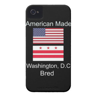 """American Born..Washington, D.C. Bred"" Flag Design iPhone 4 Cases"