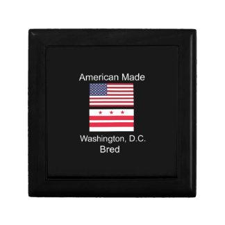 """American Born..Washington, D.C. Bred"" Flag Design Keepsake Boxes"