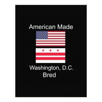 """American Born..Washington, D.C. Bred"" Flag Design Letterhead"