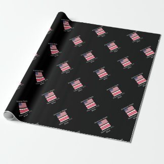 """American Born..Washington, D.C. Bred"" Flag Design Wrapping Paper"