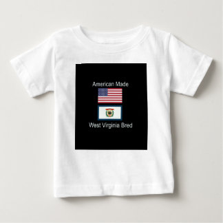 """American Born..West Virginia Bred"" Flag Design Baby T-Shirt"