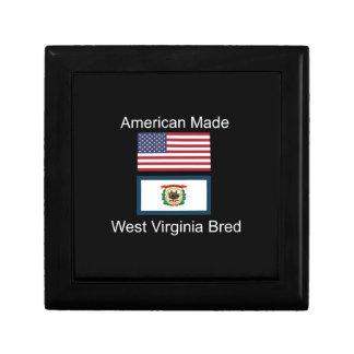 """American Born..West Virginia Bred"" Flag Design Gift Box"