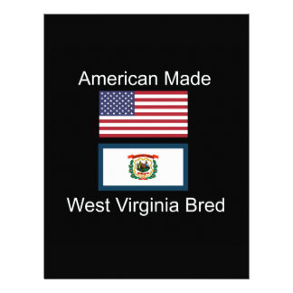 """American Born..West Virginia Bred"" Flag Design Letterhead"