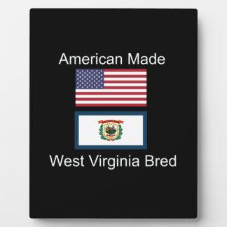 """""""American Born..West Virginia Bred"""" Flag Design Plaque"""