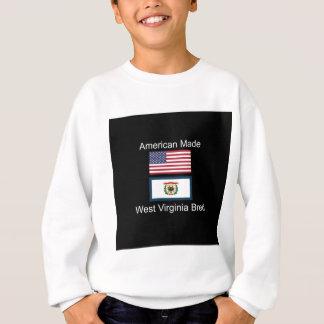 """American Born..West Virginia Bred"" Flag Design Sweatshirt"