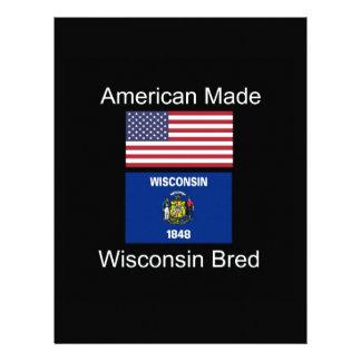 """American Born..Wisconsin Bred"" Flag Design Letterhead"
