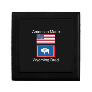 """""""American Born..Wyoming Bred"""" Flags and Patriotism Jewelry Boxes"""