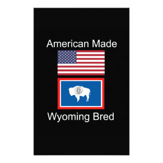 """""""American Born..Wyoming Bred"""" Flags and Patriotism Stationery"""