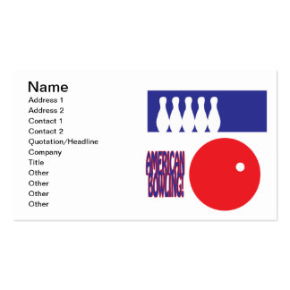American Bowling Pack Of Standard Business Cards