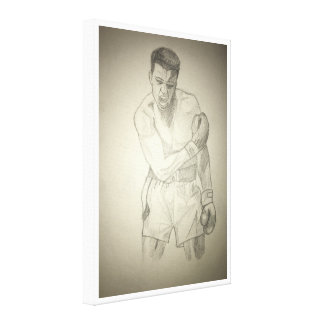 American Boxer Art Sketch Canvas Print