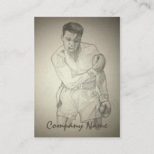 American Boxer Art Sketch Business Card