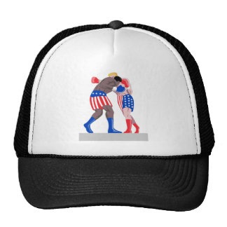 american boxing boxer knockout punch mesh hats