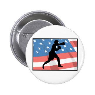 American Boxing Pinback Button