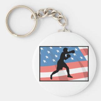 American Boxing Keychain