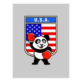American Boxing Panda Postcard