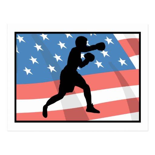 American Boxing Postcard