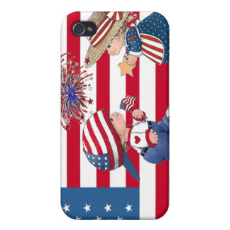 American Boy and Girl Cover For iPhone 4