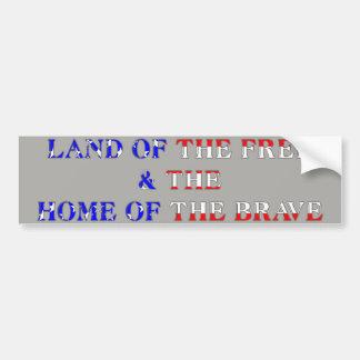 American Brave Bumper Sticker