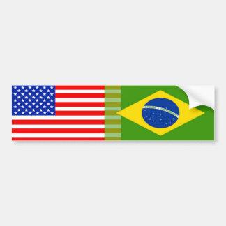 American-Brazilian Flags Bumper Sticker