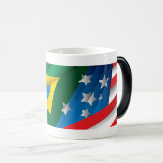 American, Brazilian, Swedish and Russian Flags Magic Mug