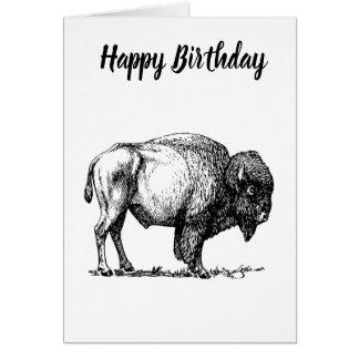 American Buffalo Bison Card