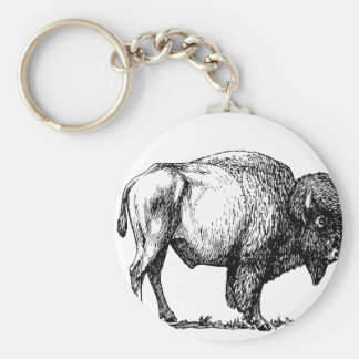American Buffalo Bison Keychain