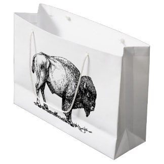American Buffalo Bison Large Gift Bag