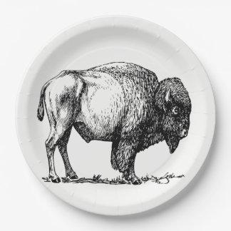 American Buffalo Bison Paper Plate