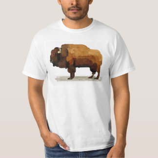American Buffalo (Bison) Watercolor T-shirt