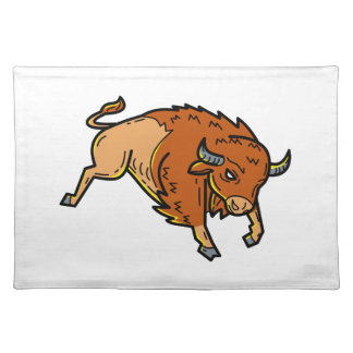 American Buffalo Jumping Mono Line Placemat