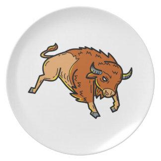 American Buffalo Jumping Mono Line Plate