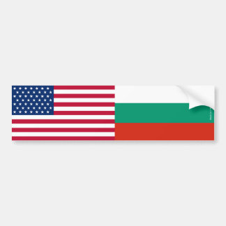 American & Bulgarian Flags Bumper Sticker
