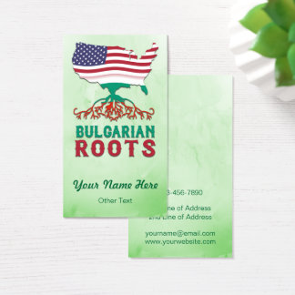 American Bulgarian Roots Business Card Template