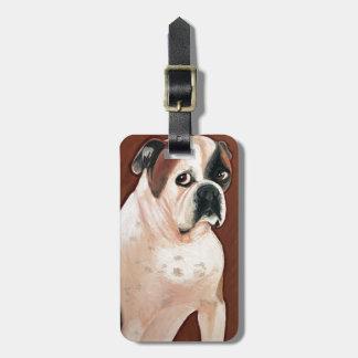 American Bull Dog Luggage Tag
