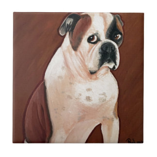 American Bull Dog Tile