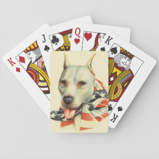 American Bull Terrier circa WWI Playing Cards