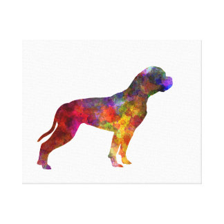 American Bulldog 01 in watercolor 2 Canvas Print