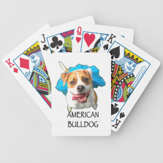 american bulldog bicycle playing cards