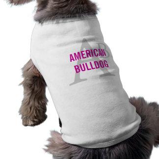 American Bulldog Breed Monogram Doggie T-shirt