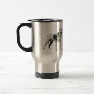 American Bulldog - Brown-White 15 Oz Stainless Steel Travel Mug