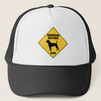 American Bulldog Crossing (XING) Sign Trucker Hat