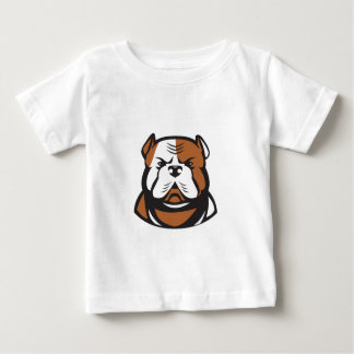American Bulldog Head Front Retro Baby T-Shirt