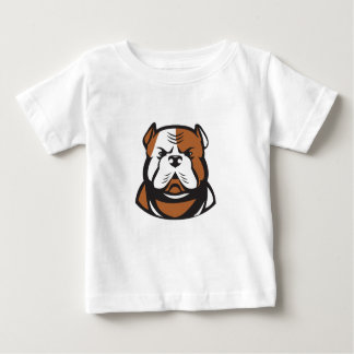 American Bulldog Head Front Retro Baby T-Shirt