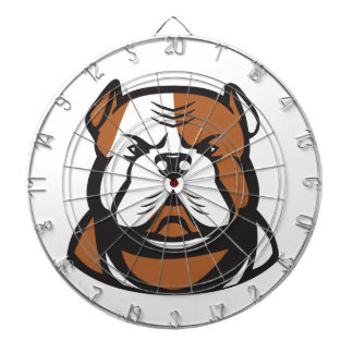 American Bulldog Head Front Retro Dartboard